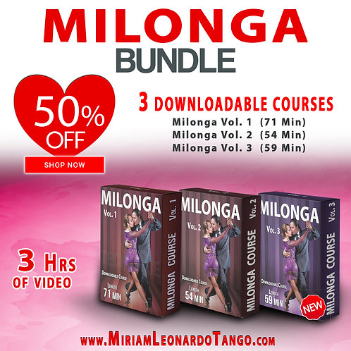 MILONGA Bundle  (3 Downloadable Courses)