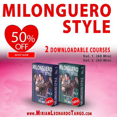 MILONGUERO STYLE  (2 Downloadable Courses)