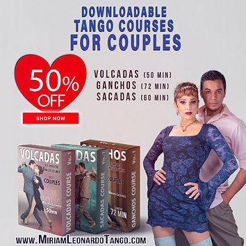 """""""3 COURSES BUNDLE""""  (Downloadable Tango Courses for Couples)"""