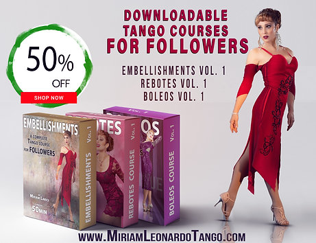 """3 COURSES BUNDLE""  (Downloadable Tango Courses for followers)"