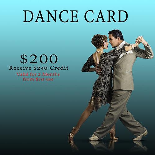 $200 Dance Card