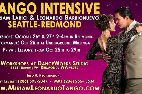 4 WORKSHOPS + TANGO CHAT / PARTY