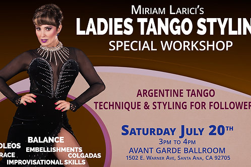 LADIES TANGO STYLING WORKSHOP  (3PM TO 4PM)