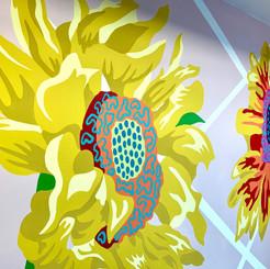 Sunflower Mural, The Art House, 2020