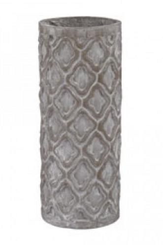 Short Antiqued Gray Vase