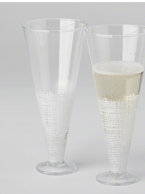 Crosshatch Champagne Flute