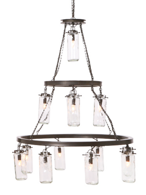 3 Tier Jar Chandelier