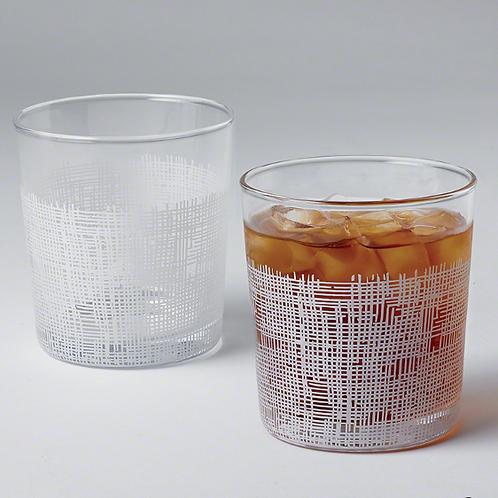 Crosshatch Drinking Glass