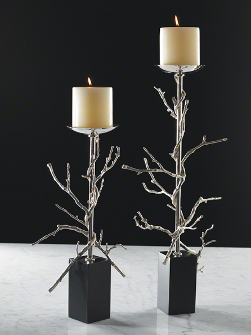Twig Candleholder - Nickel
