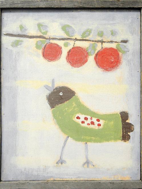 Bird With Cherries Wall Art