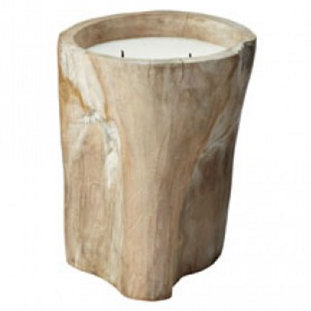 WhIte Log Candle - Large