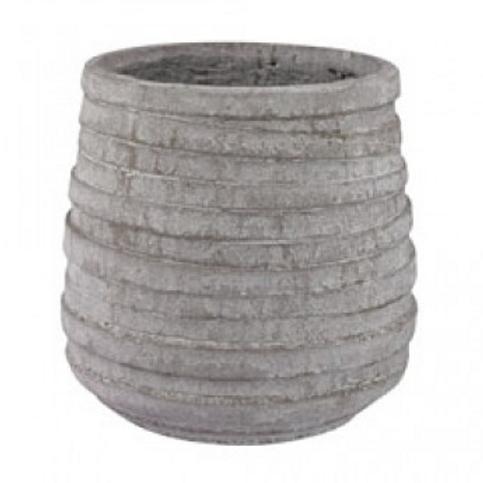 Grey Corrugated Pot