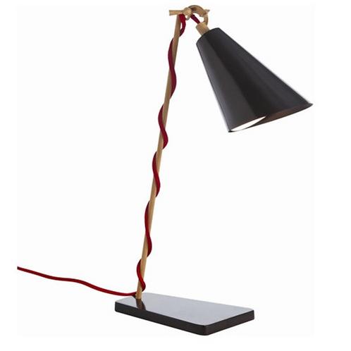Metal & Wood Desk Lamp