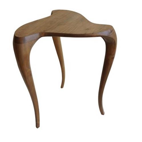 Swirl Side Table- Teak