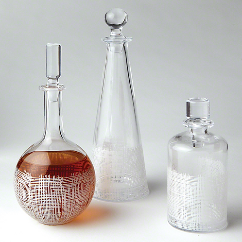 Crosshatch Globe Decanter