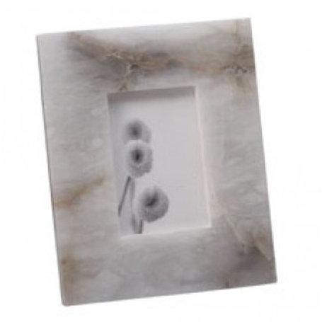 """Solid Slab Alabaster Frame 4"""" x 6"""""""