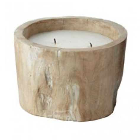 White Wood Candle - Small