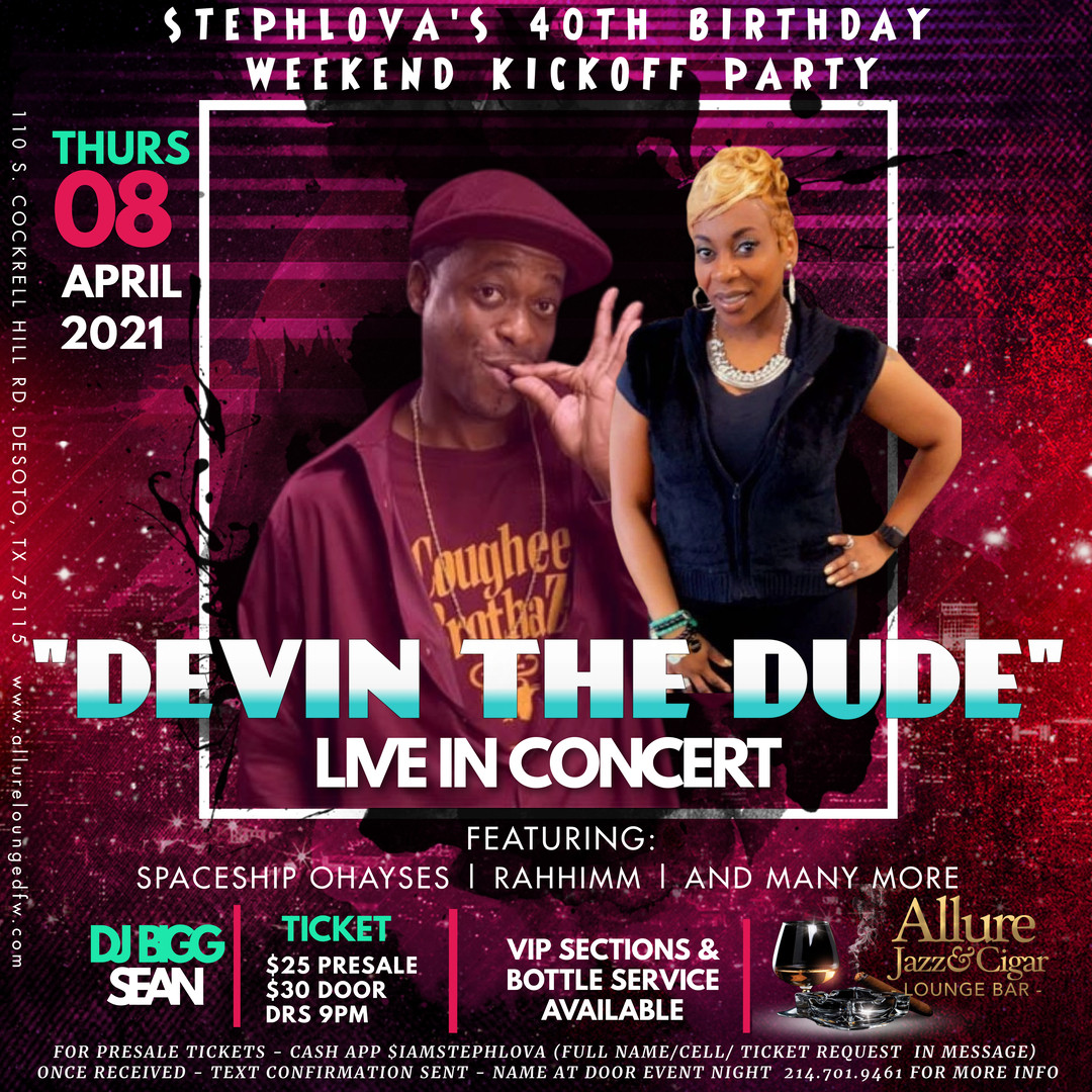DEVIN THE DUDE - STEPHLOVA BDAY PARTY4.8