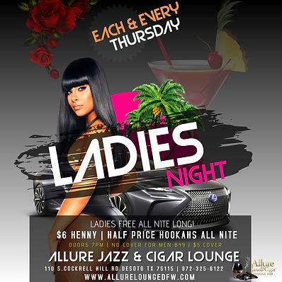 THURSDAY LADIES NIGHT EVENT FLYER CLUB P
