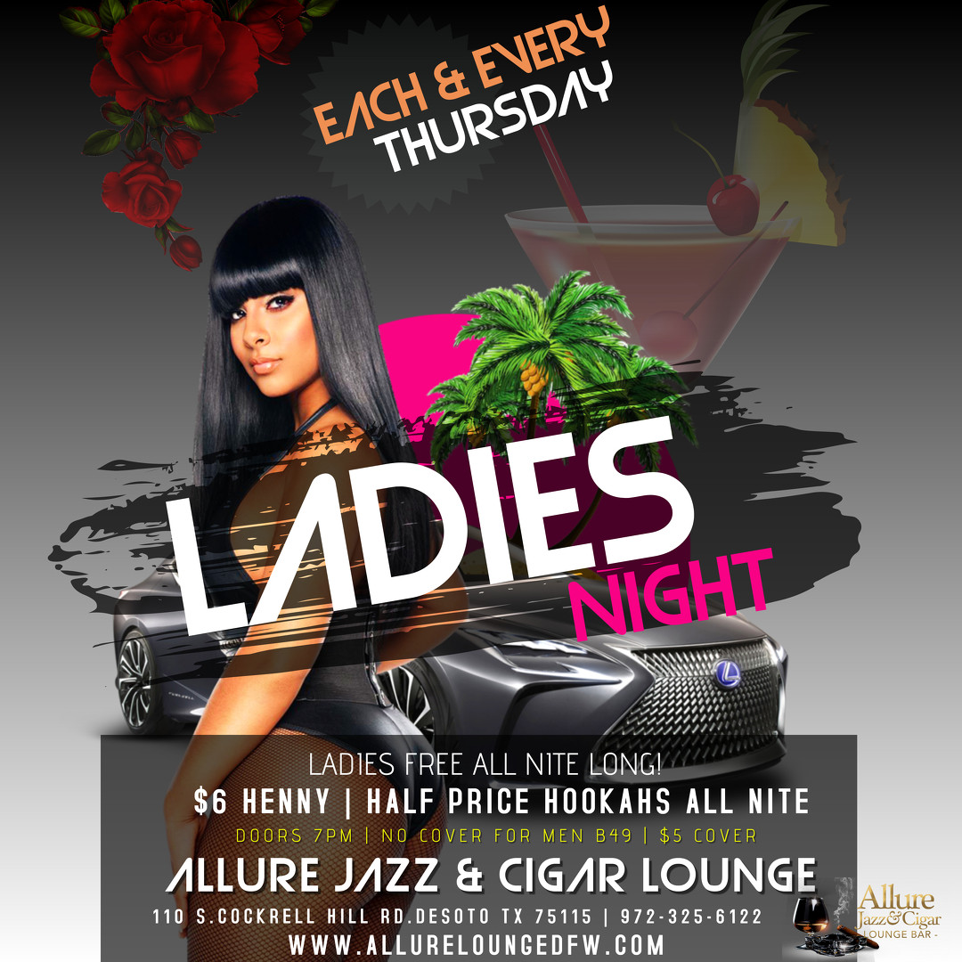 THURSDAY LADIES NIGHT EVENT FLYER CLUB P