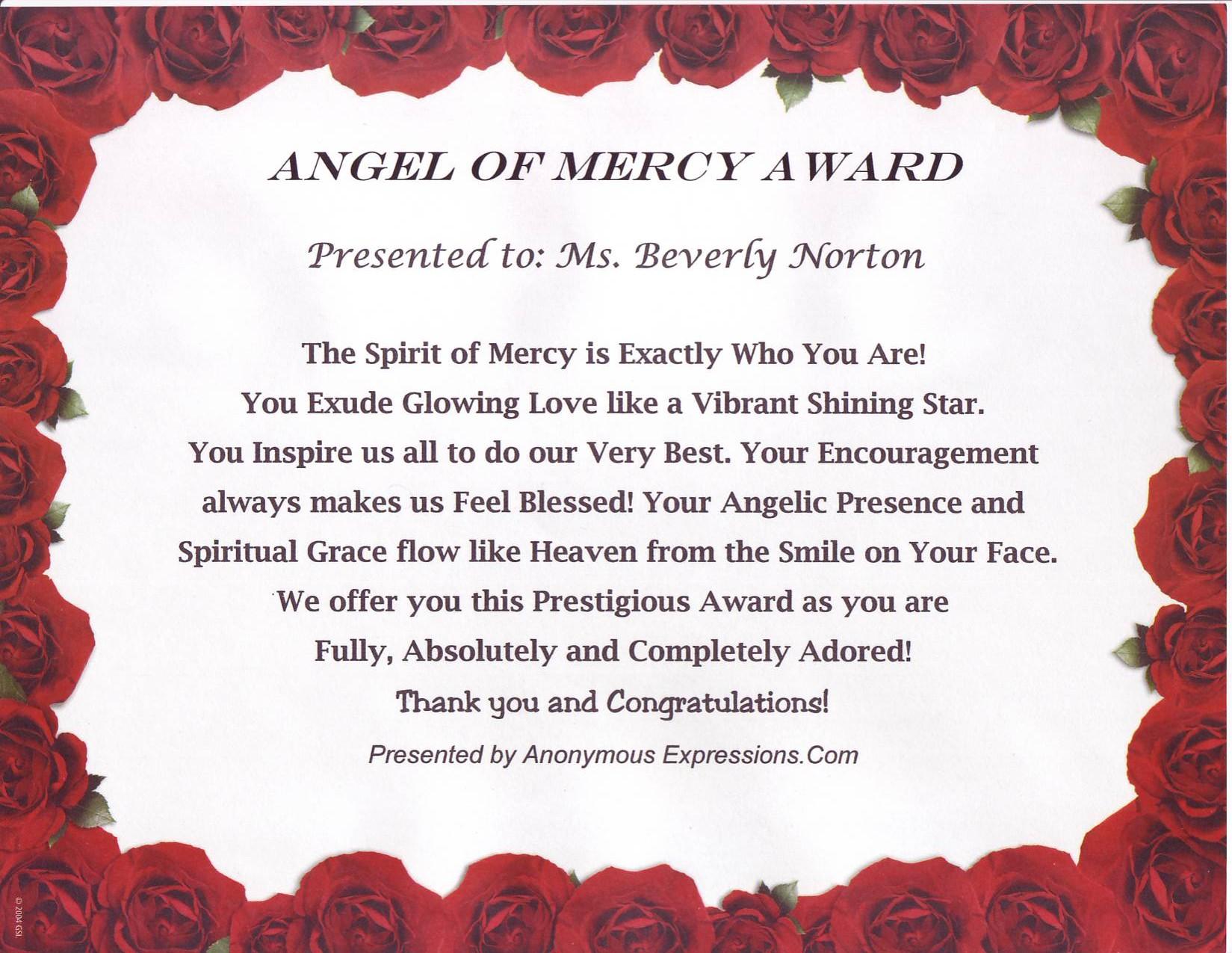 Angel of Mercy Award