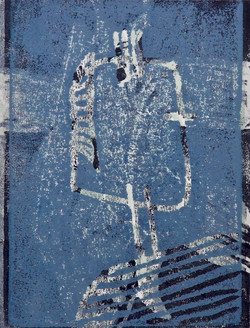 portrait blau