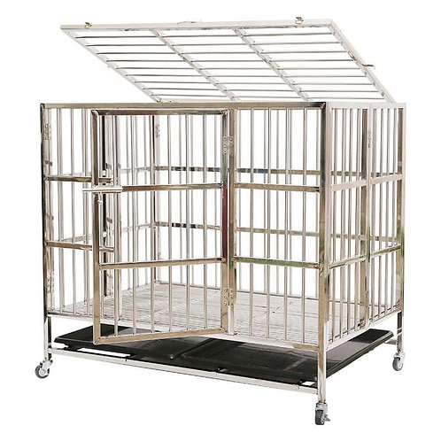 """37"""" Kennel stainless steel"""