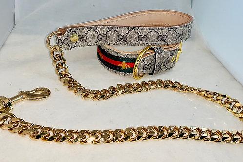 Pup/Frenchie collar set