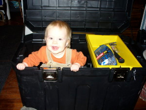 So much to learn!  The joy of daddy's tool box.
