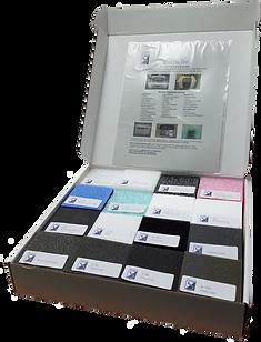 foam sample box