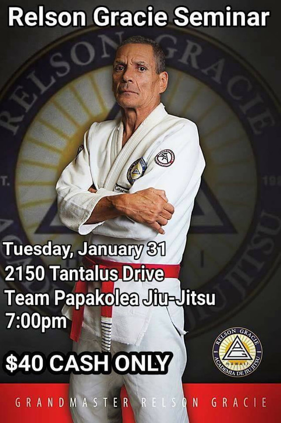 TOMORROW: Grandmaster Relson Gracie at TPJJ  1/31