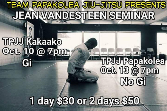 Jean Vendesteen Seminar 10/10 and 10/13