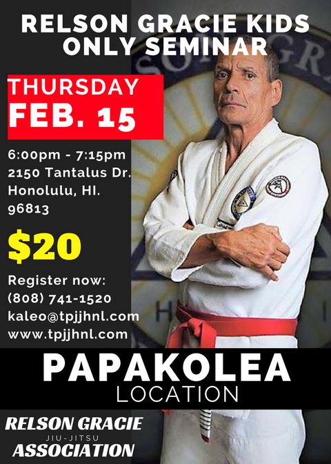 Relson Gracie KIDS  ONLY SEMINAR