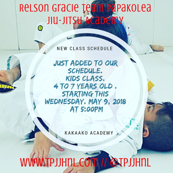 New kids class added to our schedule