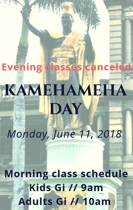 Kamehameha Day evening classes are canceled