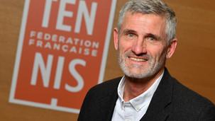 Gilles Moretton a été élu samedi 13 février 2021, pour quatre ans, à la présidence de la FFT.