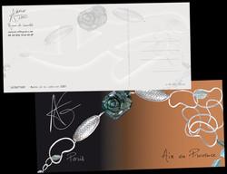 Carte postale communication