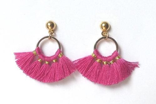 Boucles d'oreilles 5 pompons