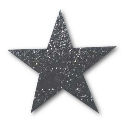 Ecusson thermocollant étoile noire pailletée