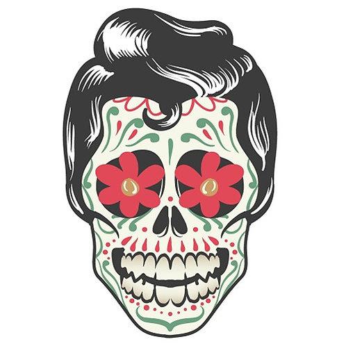 Motif thermo-adhésif Dia de los Muertos Homme