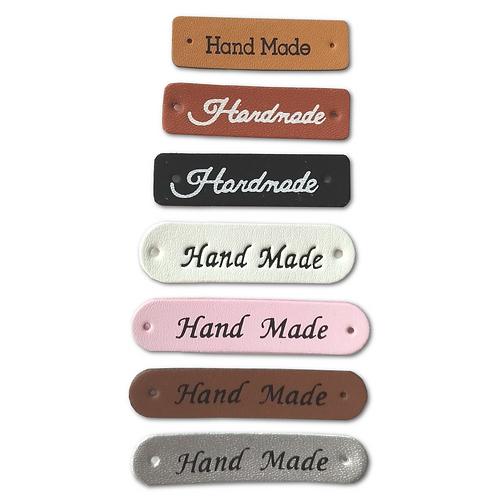 Etiquettes en cuir multicolores