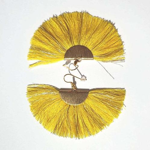Boucles d'oreilles à franges - jaunes