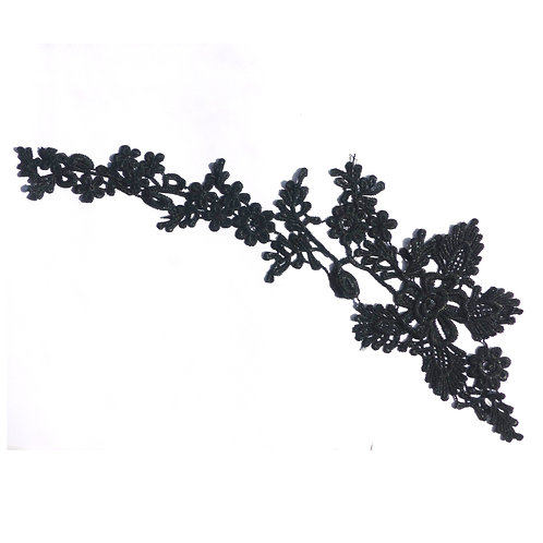 Paire d'appliques en dentelle noire