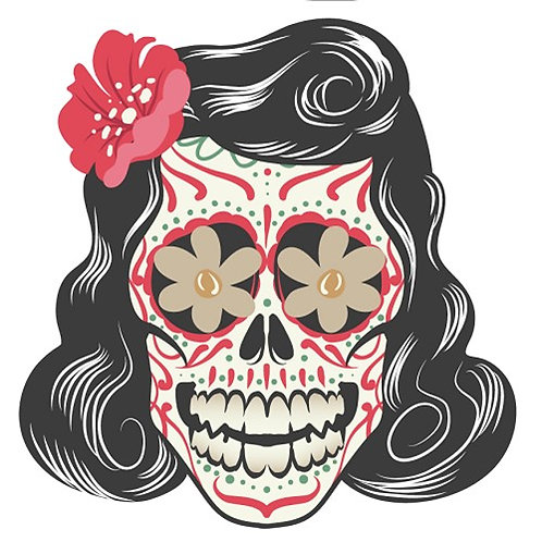 Motif thermo-adhésif Dia de los Muertos Femme