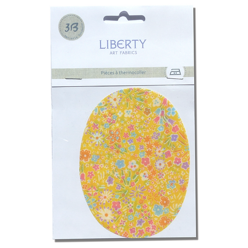 Patchs thermocollants Liberty jaune