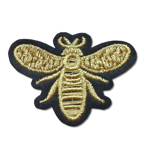 Ecusson thermocollant abeille dorée