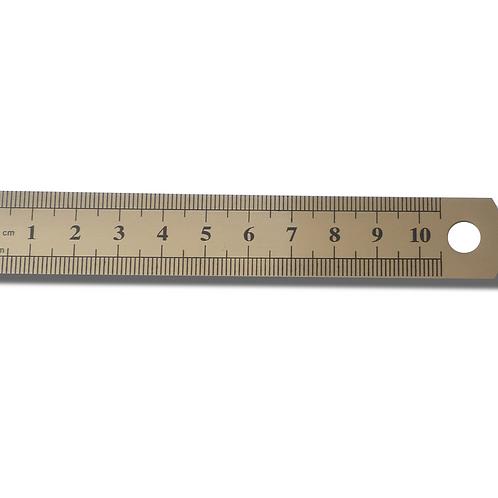 Petit réglet en métal 10,5 cm / 4 inch