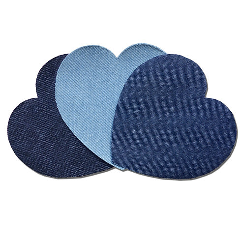 Patchs thermocollants coeur jean