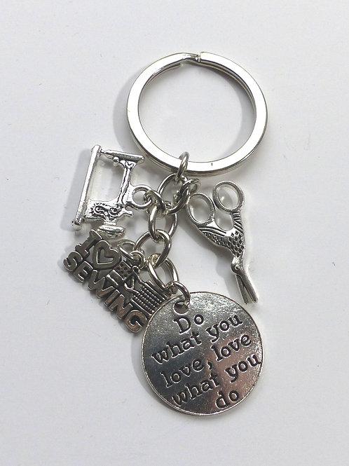 Porte clés passion couture