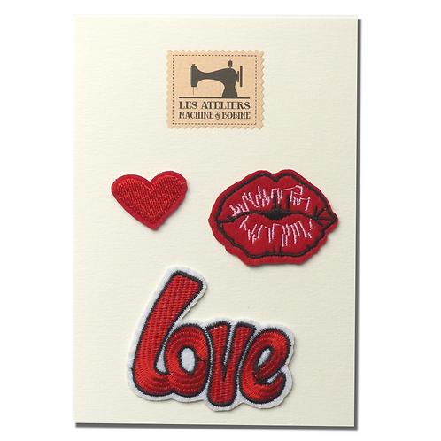 Plaquette d'écussons Love